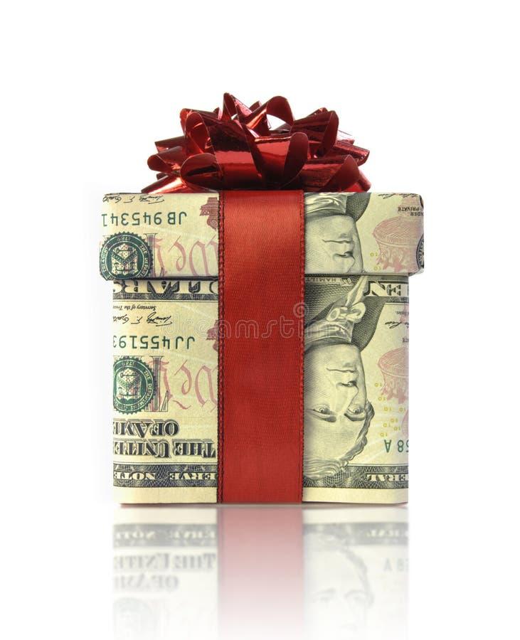 金钱礼物盒 库存照片
