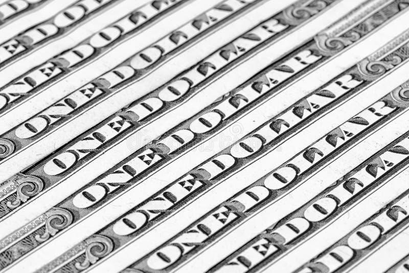 金钱背景,在一美元钞票 免版税库存照片
