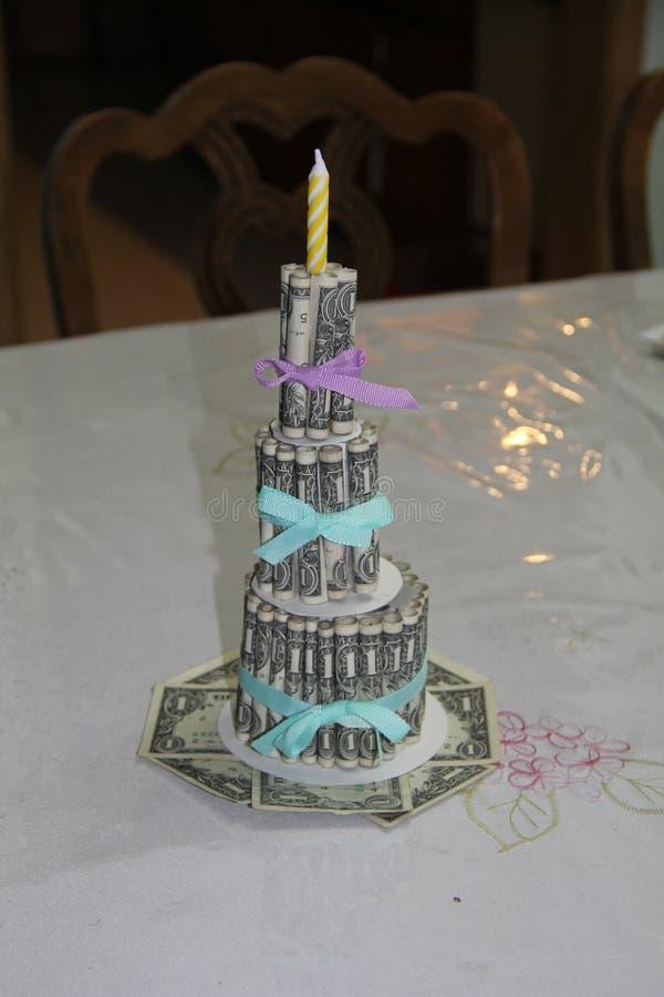 金钱蛋糕 免版税图库摄影
