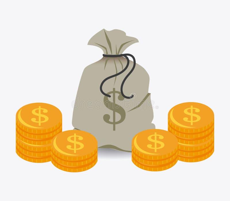 金钱设计 库存例证