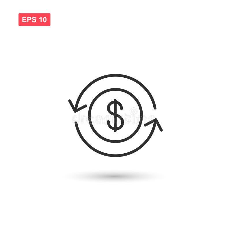 金钱转交象传染媒介隔绝了 向量例证