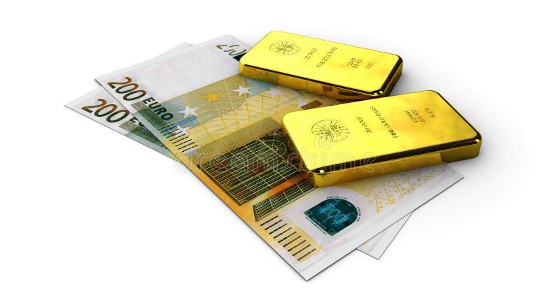金钱金子的储蓄例证,在白色背景 向量例证