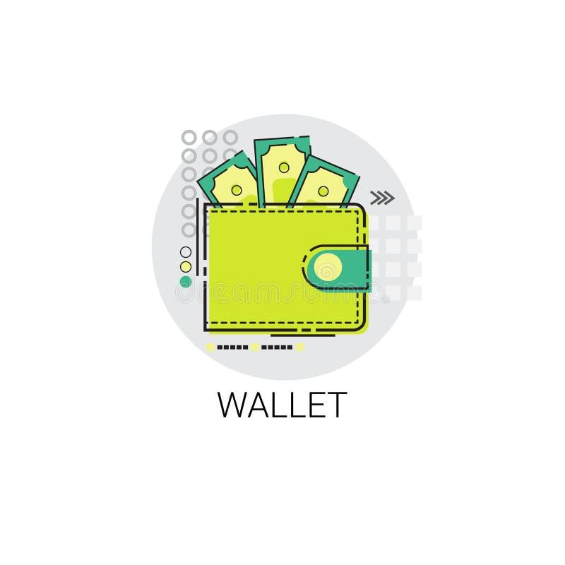 金钱钱包象商业投资网路银行 库存例证