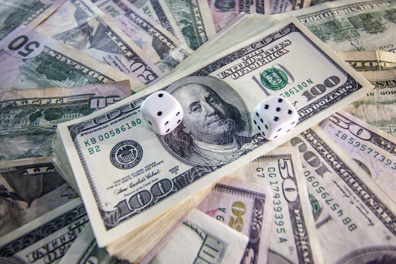 金钱,赌博的模子 图库摄影