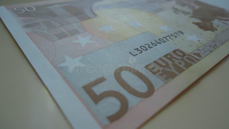 金钱, 50欧元,赢利财务,货币,欧洲 图库摄影