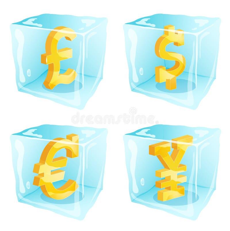 冻金钱 向量例证