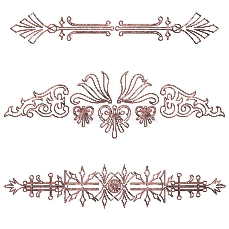 金银细丝工的分切器 向量例证