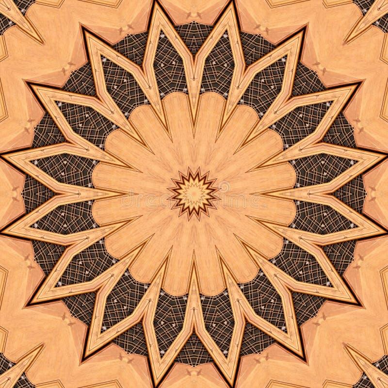 金银细丝工的木幻想结构 皇族释放例证