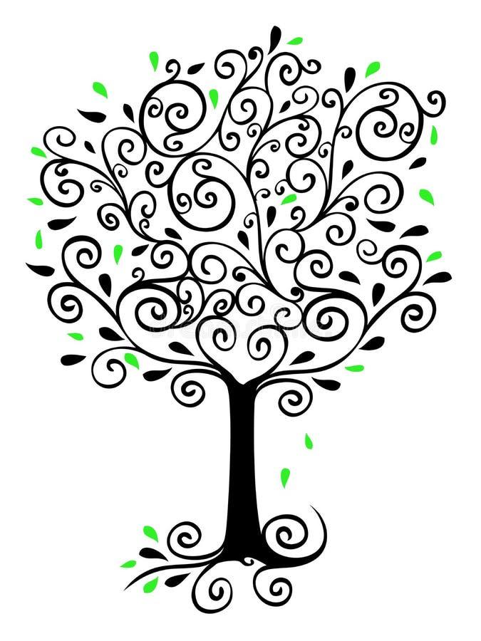 金银细丝工的结构树 皇族释放例证