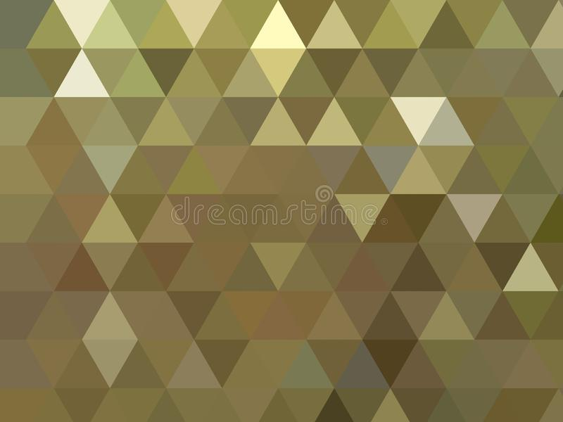 金银铜合金发光的金属三角反射性多角形背景 库存例证