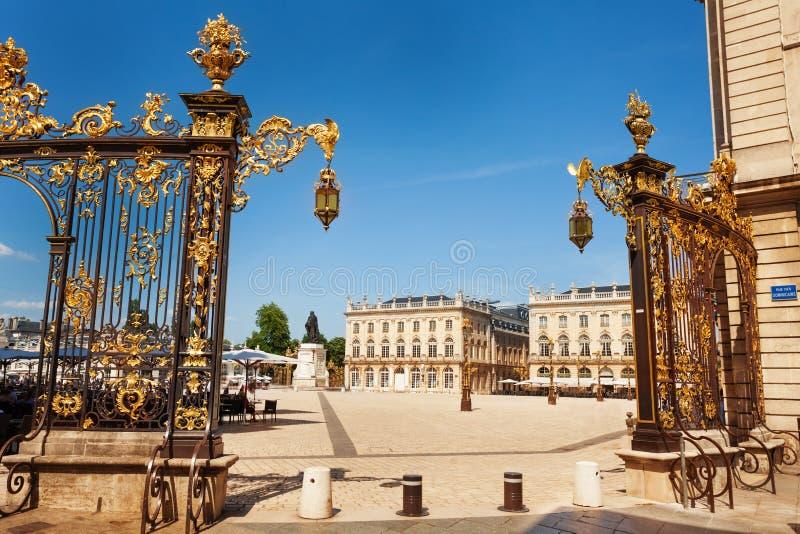 金门向斯坦尼斯拉斯广场,南希,法国 免版税库存图片
