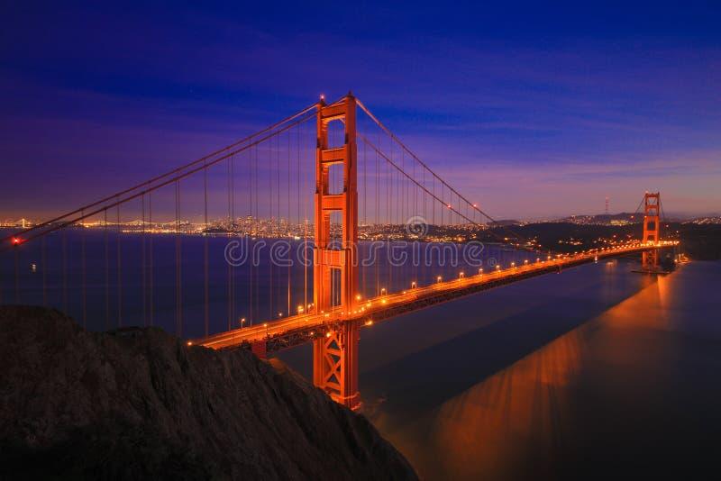 金门大桥关闭2015年1月 免版税库存照片