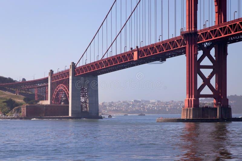 金门大桥和贝克海滩图象 库存图片