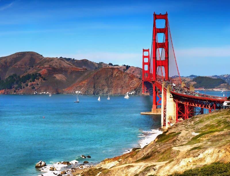 金门大桥旧金山,加利福尼亚 库存照片