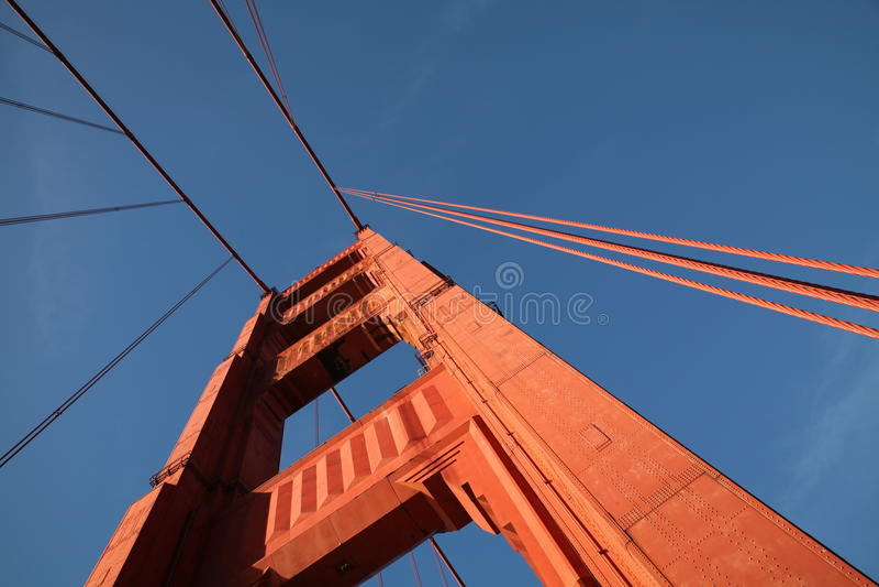 金门大桥的细节旧金山的 库存照片