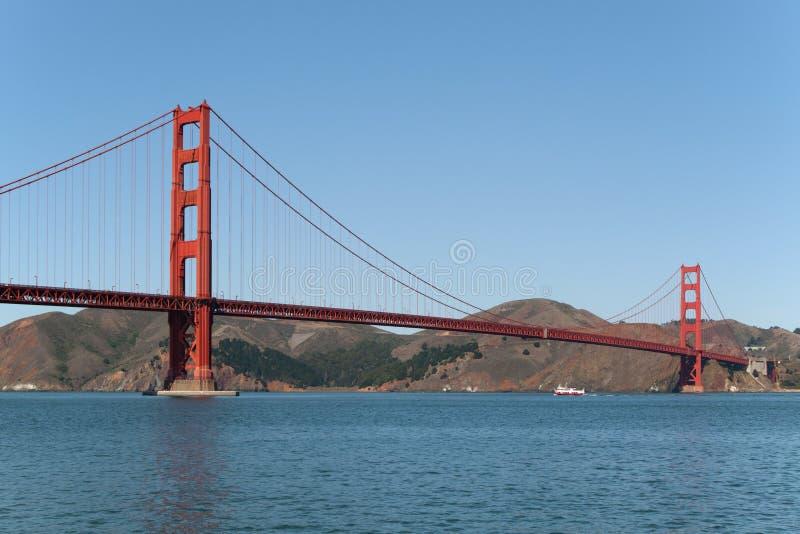 金门大桥端到端 免版税库存照片