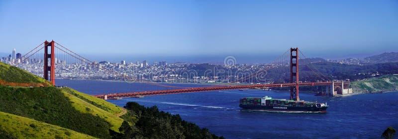 金门大桥,旧金山全景  免版税图库摄影