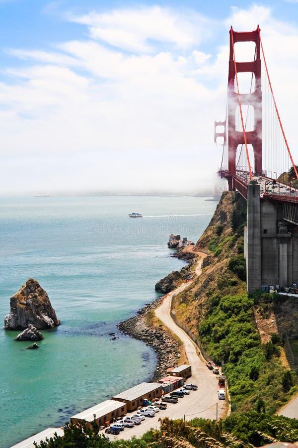 金门大桥-从景色点的看法 免版税库存照片