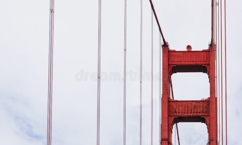 金门桥柱子细节 库存图片