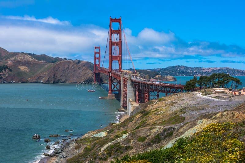 金门桥,旧金山 免版税图库摄影