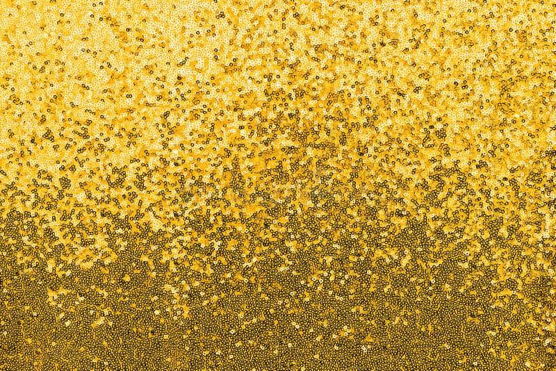 金闪光金属片的织品 免版税库存图片