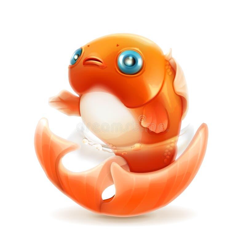 金鱼传染媒介象 向量例证