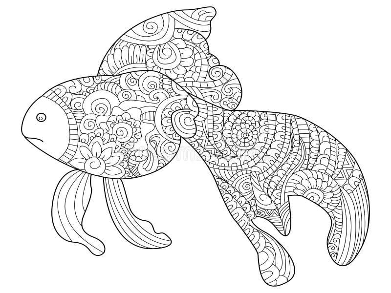 金鱼成人的彩图传染媒介 向量例证