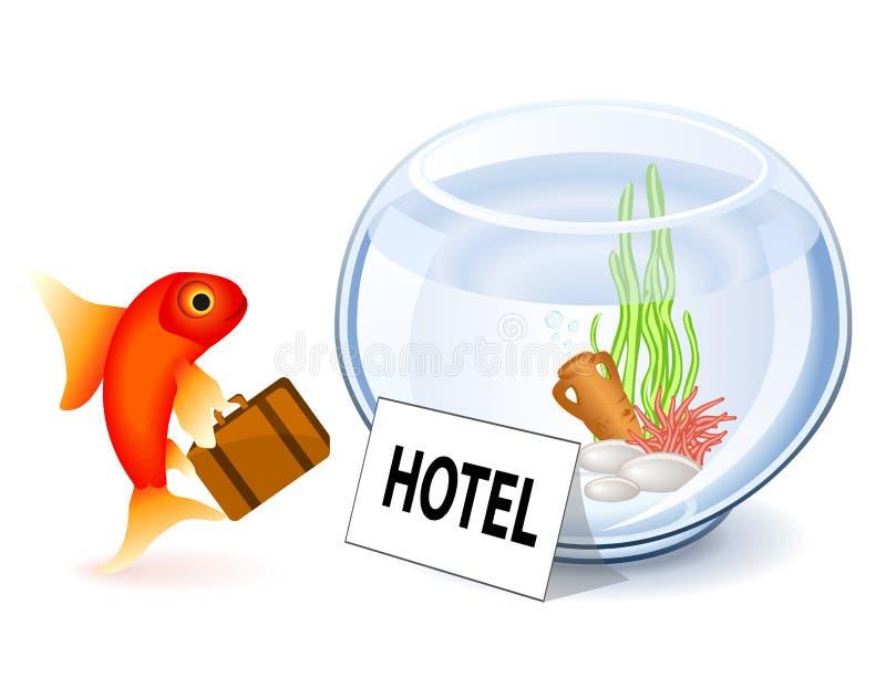 金鱼旅馆 向量例证