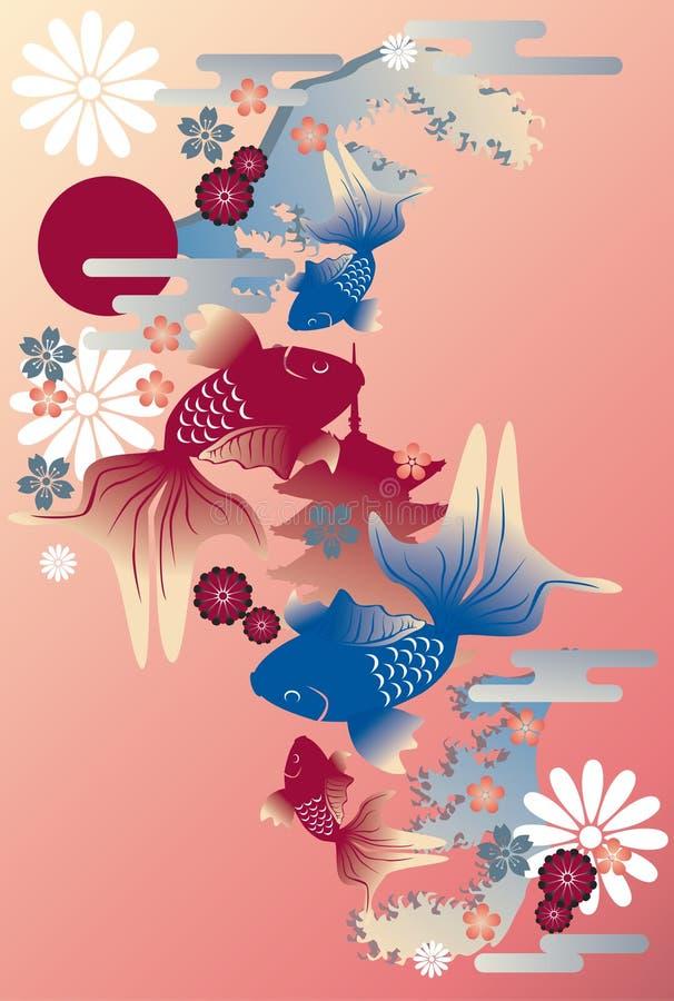 金鱼日语 向量例证