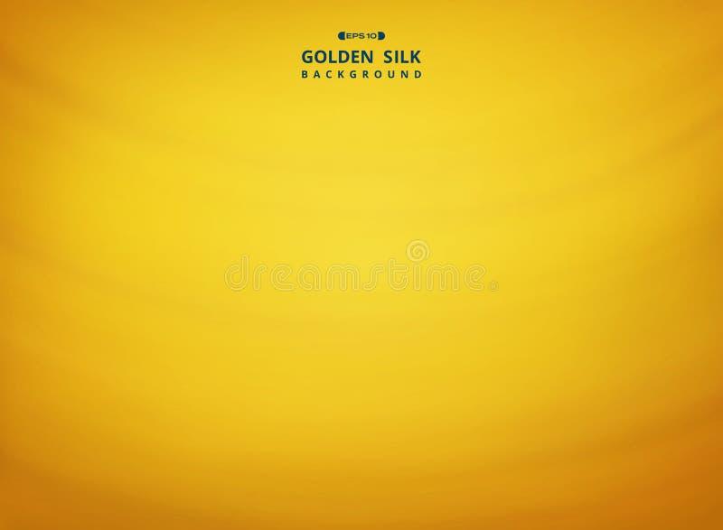 金黄丝绸样式背景摘要  向量例证