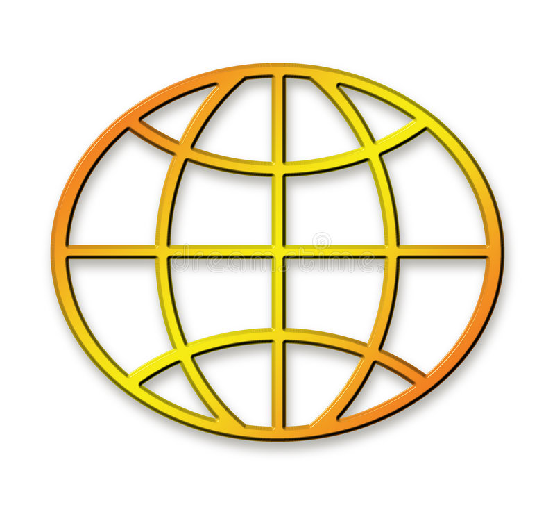 金黄几何的地球 皇族释放例证