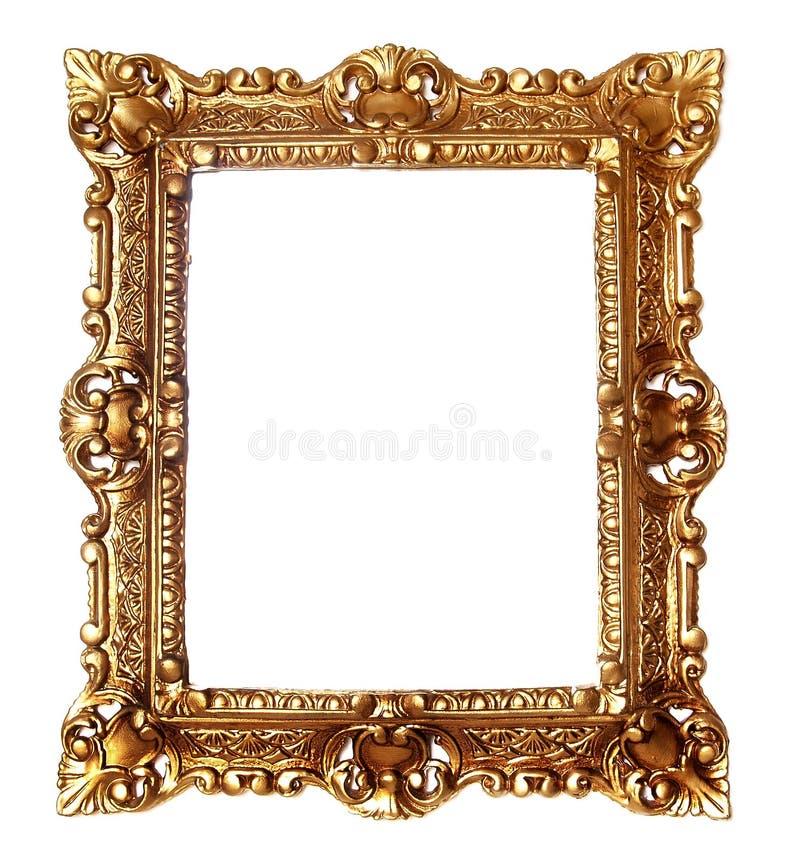 金黄古色古香的框架 库存照片