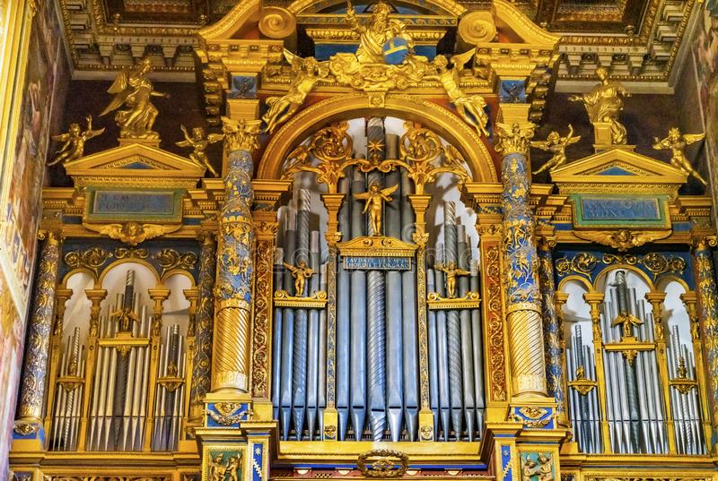 金黄器官大教堂圣约翰Lateran大教堂罗马意大利 库存照片