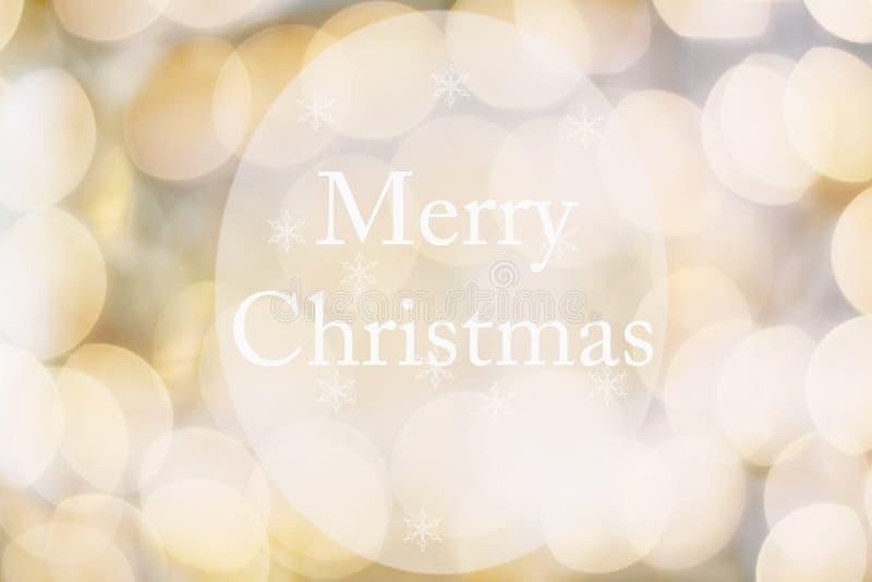 金黄圣诞快乐摘要  库存照片