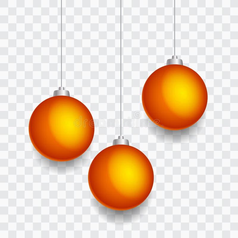 金黄圣诞节中看不中用的物品-透明背景 向量例证