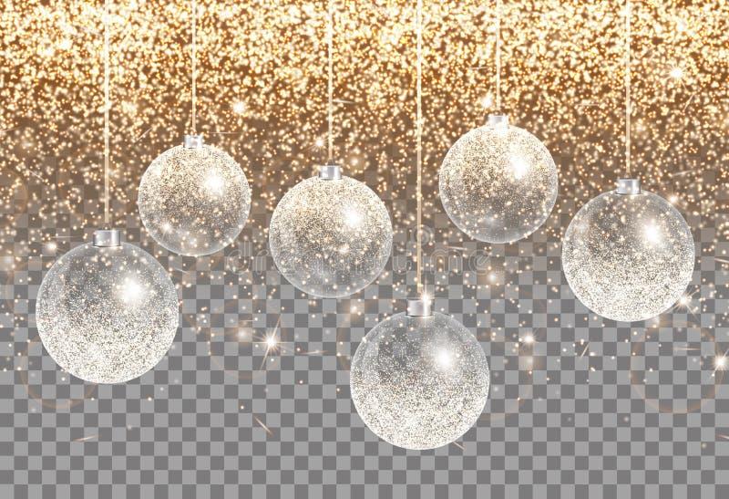 金黄圣诞节例证 向量例证