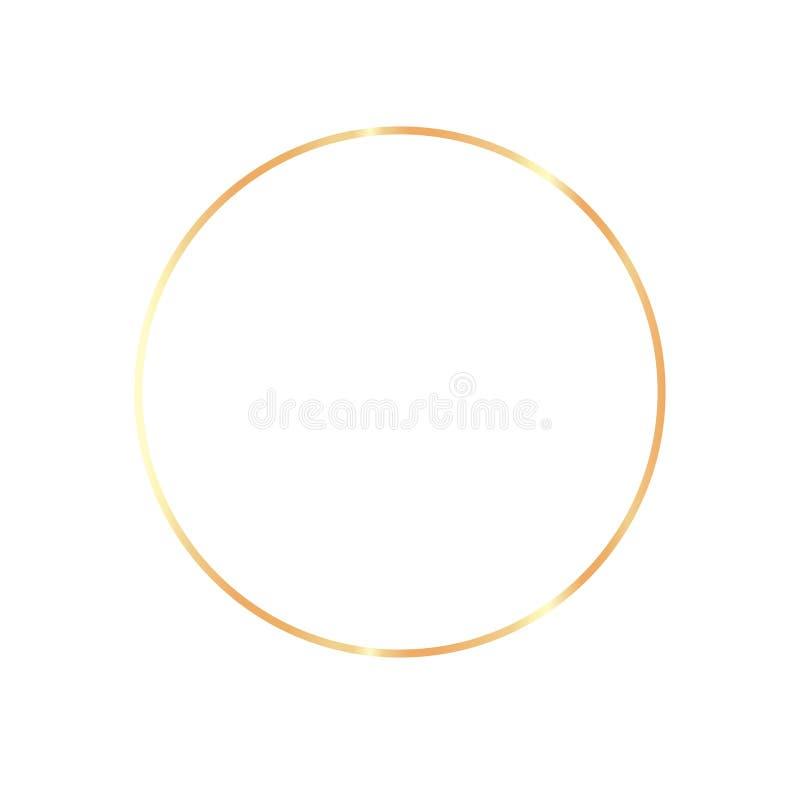 金黄在透明背景的葡萄酒现实框架 向量例证