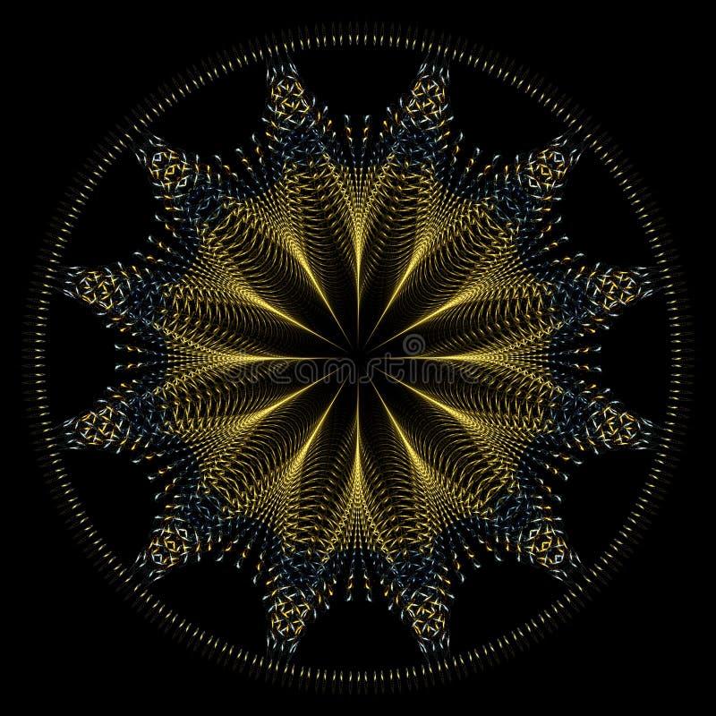 金黄坛场星形电汇 向量例证