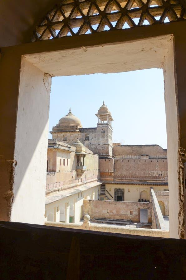 金黄堡垒,斋浦尔,拉贾斯坦的里面 库存图片