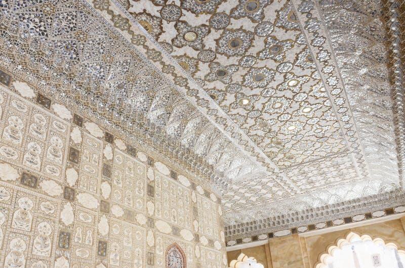 金黄堡垒,斋浦尔,拉贾斯坦的里面 免版税库存照片