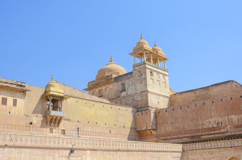 金黄堡垒,斋浦尔,拉贾斯坦的里面 免版税库存图片