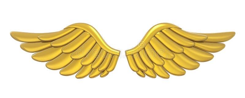 金黄天使翼隔绝了 皇族释放例证