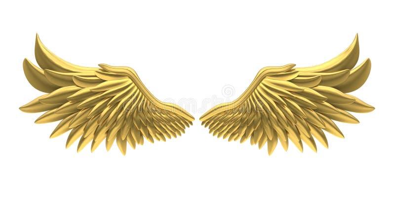 金黄天使翼隔绝了 库存例证
