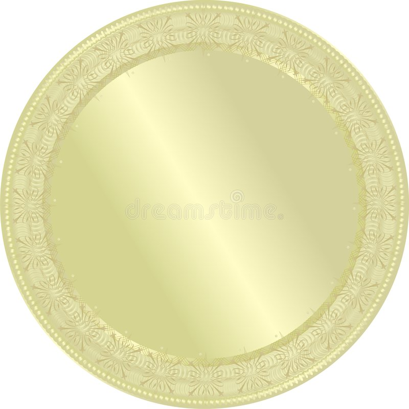 金黄奖牌 皇族释放例证