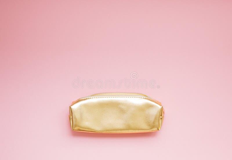 金黄女性钱包 库存照片