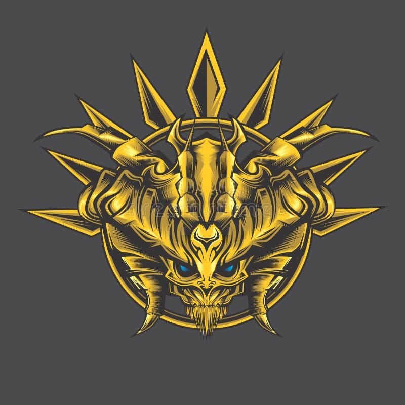 金黄妖怪钉 向量例证