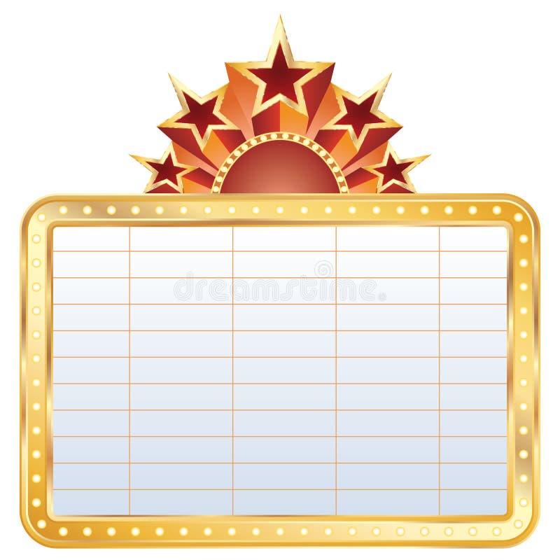 金黄戏院的显示 库存例证