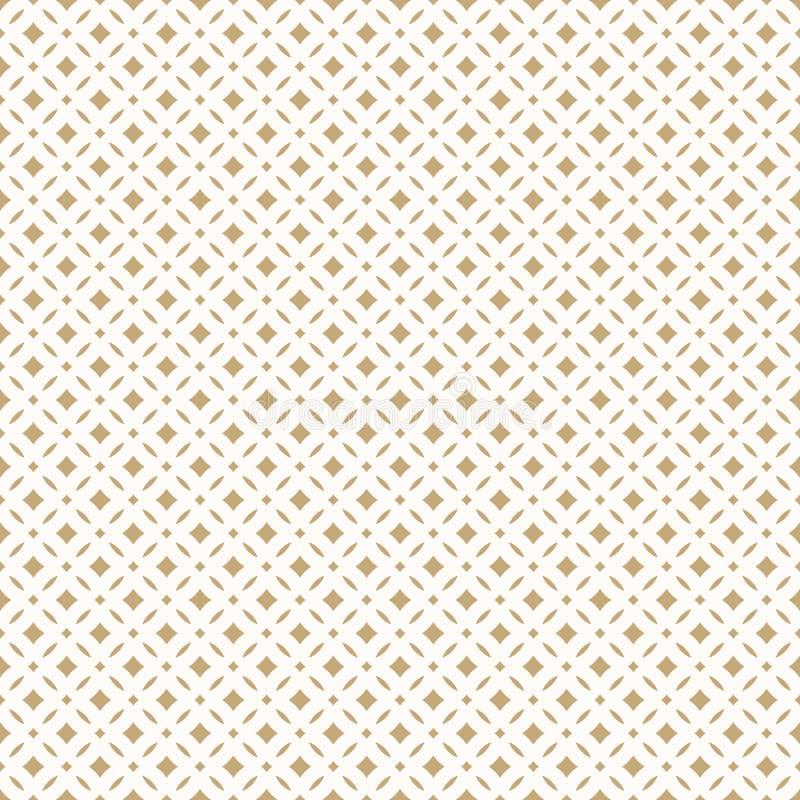 金黄抽象花卉无缝的样式 精美豪华图表纹理 库存例证