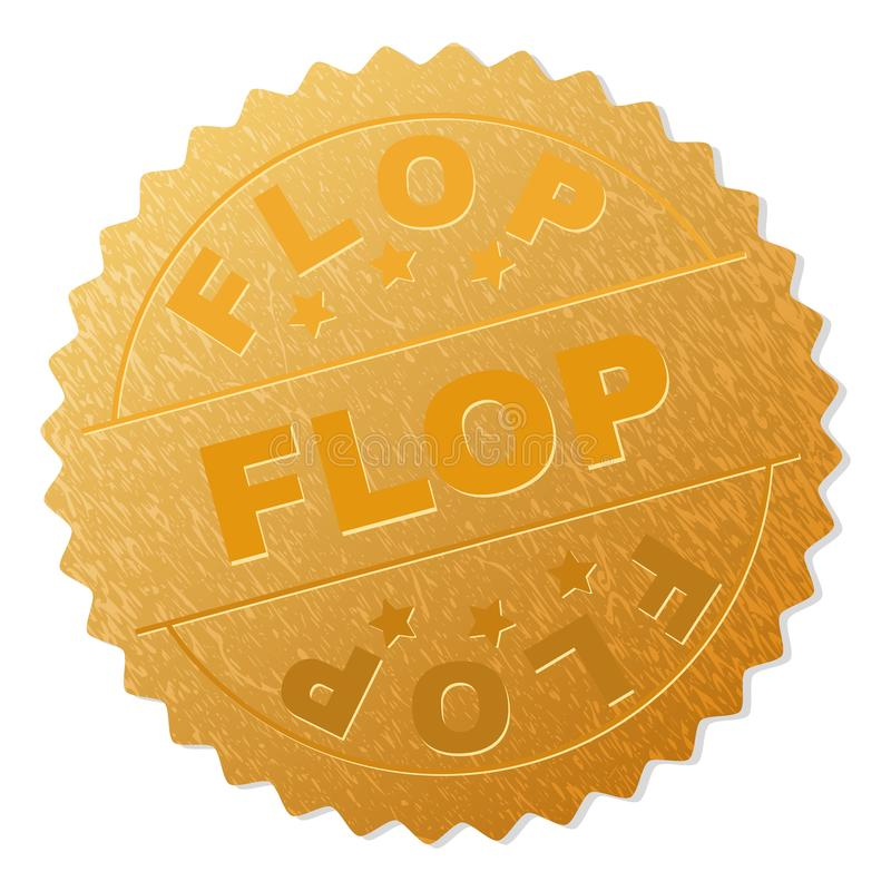 金黄拍击声奖牌邮票 向量例证