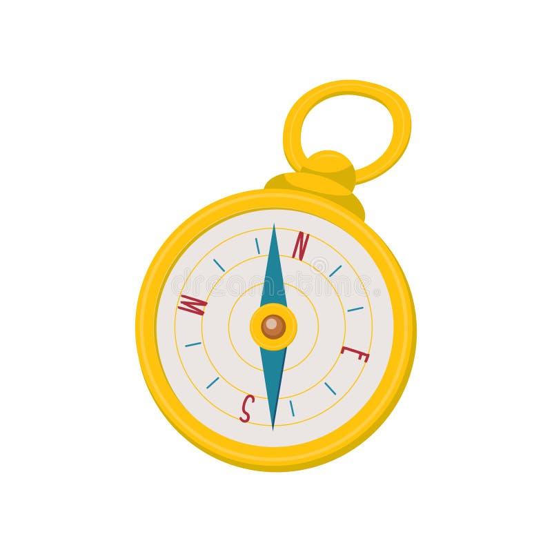 金黄指南针,动画片传染媒介例证 皇族释放例证